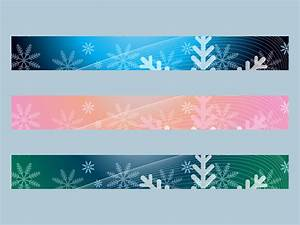 Snow Banners Vector