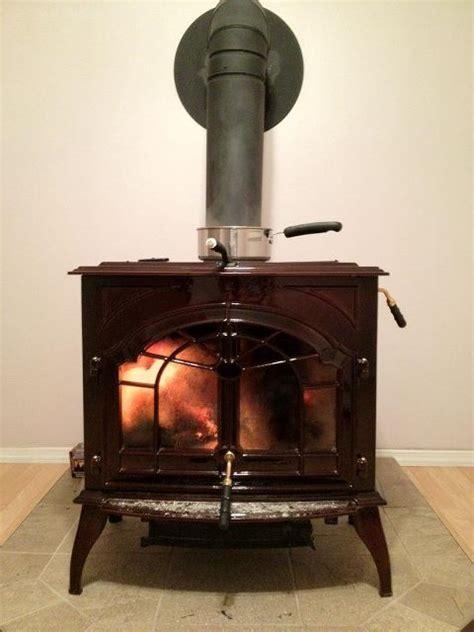 running  wood burning stove