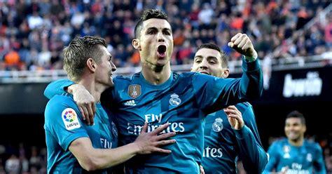 Valencia 1-4 Real Madrid: Two Cristiano Ronaldo penalties ...