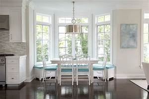 Built In Banquette Contemporary Dining Room Laura