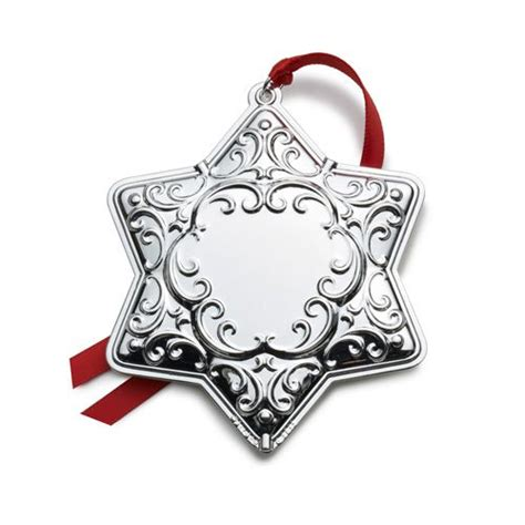 2014 wallace silver plated engravable tree christmas ornament