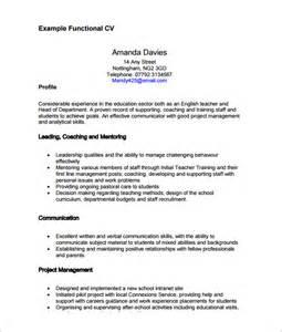 free printable functional resume templates functional cv template 7 documents in pdf sle templates