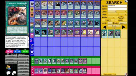 yugioh deck tester program draco amorphage deck profile yugioh shiv 2016