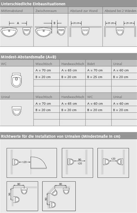 Wc Abstand Zur Wand by Professionelle Planungshilfe F 252 R Wc Und Urinalbereiche