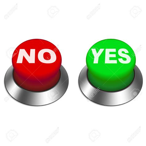 No Clipart Button Clipart Yes And No Pencil And In Color Button