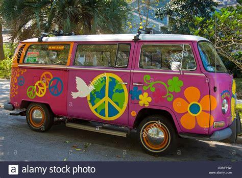 old volkswagen hippie van vintage vw hippie bus on a street in clearwater florida