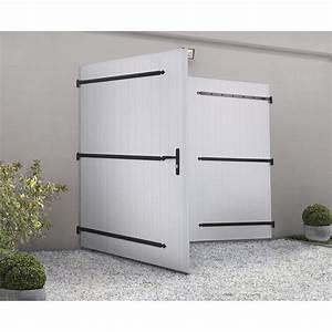 Porte de garage battante manuelle artens essentiel h200 x for Porte de garage keritek