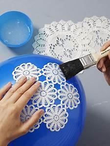 Lampenschirm Basteln Einfach : diy tipp basteln sie eine h bsche shabby chic lampe ~ Markanthonyermac.com Haus und Dekorationen