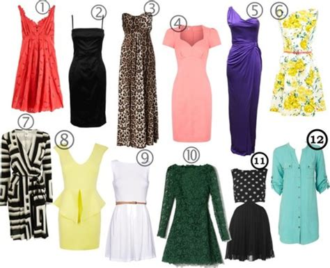 types  dresses  woman    wardrobe
