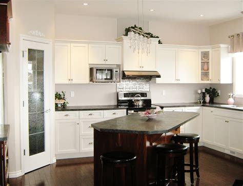 kitchens with 2 different color cabinets one wall kitchen layout with island kitchen design