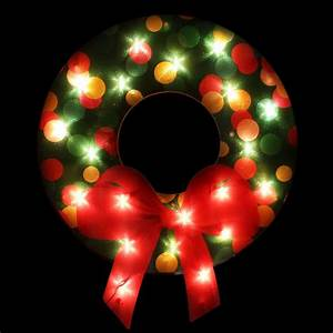 Northlight, Lighted, Shimmering, Christmas, Wreath, With, Bow, Window, Silhouette, Decoration