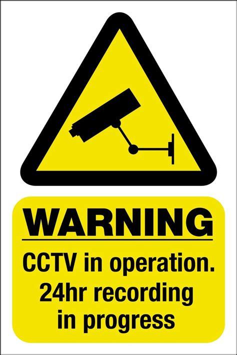 Warning Sign CCTV Surveillance