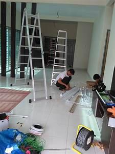 Wiring Dan Pemasagan Lampu  Kipas Dan Power Plug Di Taman