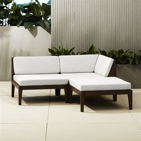 outdoor sofa with chaise applying the modernity from the outside by purchasing the