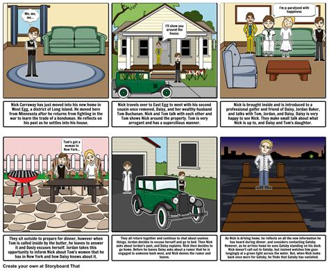 the great gatsby chapter 1 storyboard by michael2144
