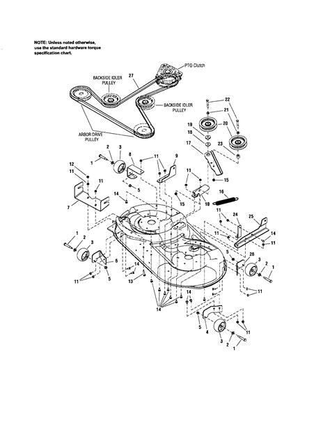 Craftsman Lt2000 Drive Belt by Craftsman Lt2000 Pulley Diagram Craftsman Get Free Image