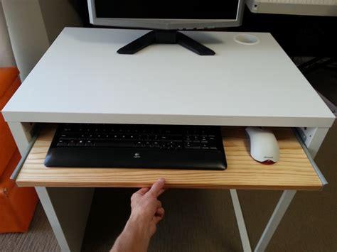 desk with keyboard drawer ikea micke desk with keyboard tray ikea hackers