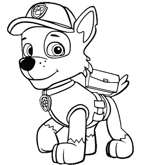 top  paw patrol coloring pages