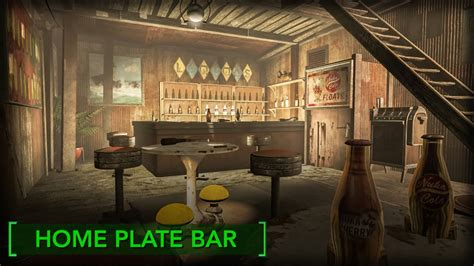 Fallout 4 Home Plate Interior : Home Plate Bar! (redecorating Home Plate