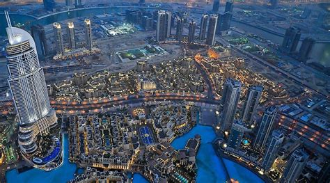 View From The Top Of The Tallest Building In The World