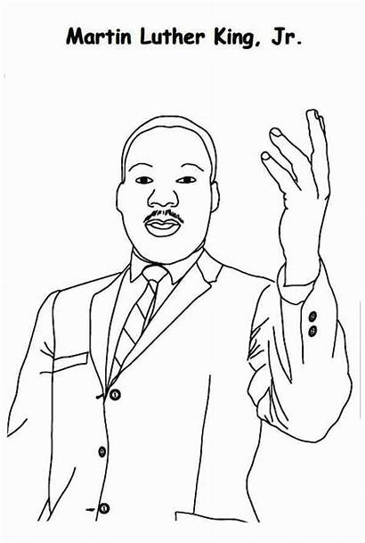 Coloring Luther Martin King Jr Printable Sheets