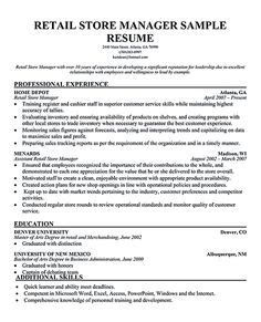 Resumes For Retail Stores by Restaurant Manager Resume Exle Mlez