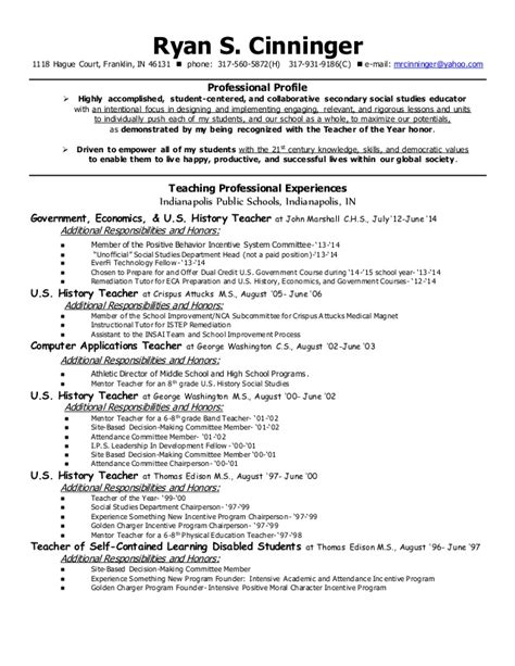 resume contact information for references cinningerteachingresume june 2015 with reference contact info