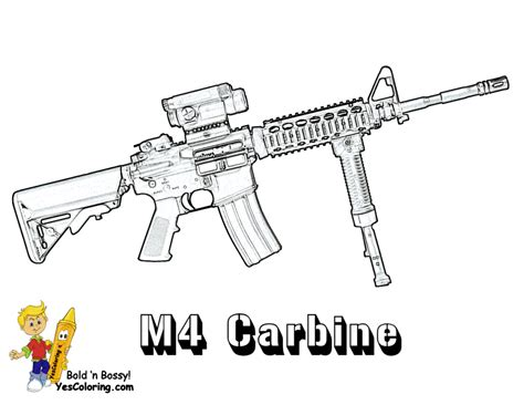 Minigun Nerf Gun Coloring Pages Sketch Template Hunting