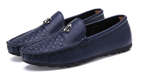 2015 New Style Men Blue Casual Shoes Genuine Leather Shoes