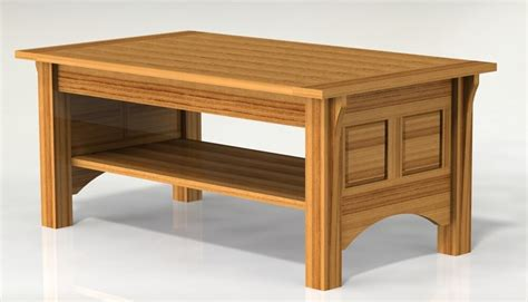 shaker style coffee table woodworking paper plans ebay