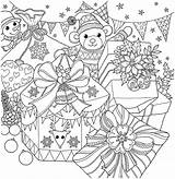 Coloring Christmas Kayliebooks Pages Cart sketch template