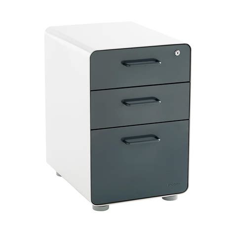three drawer file cabinet poppin grey 3 drawer locking stow filing cabinet