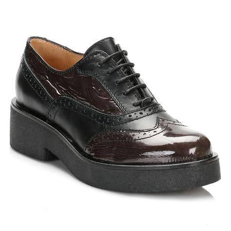 Brogue Platform Oxfords tower womens black platform oxford brogues leather