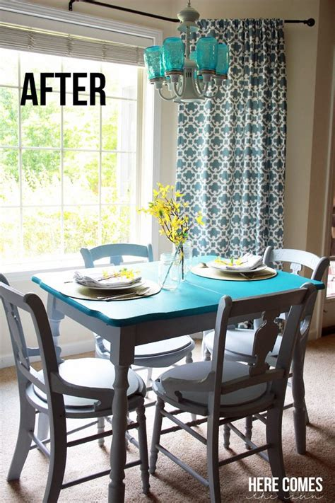 is chalk paint durable for kitchen table kitchen table makeover with chalky finish paint here