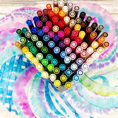 Frequent special offers and.a wide range of available colours in our catalogue: How to Tie Dye Coffee Filters with Tombow Dual Brush Pens