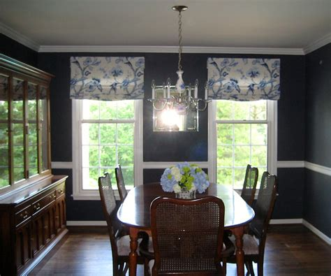 Kitchen Window Valance Ideas - relaxed roman shades traditional dining room philadelphia by drapery design