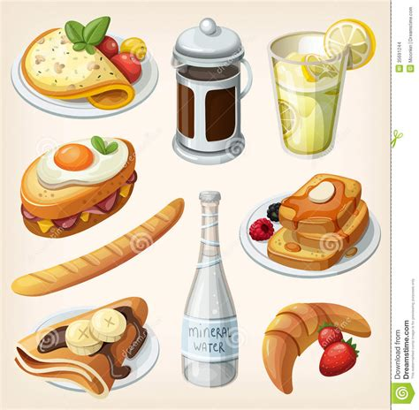Set Of French Breakfast Elements Stock Images   Image: 35691244