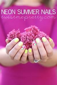 Neon Summer Nails - Twist Me Pretty