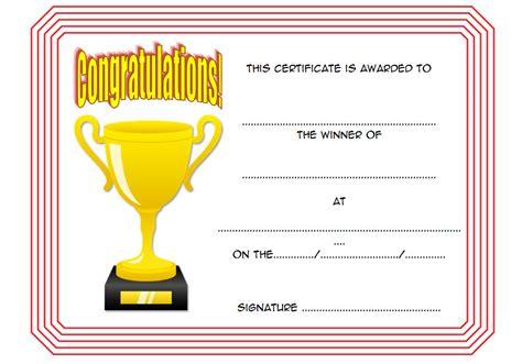Winner Certificate Template Winner Certificate Template 10 The Best Template Collection