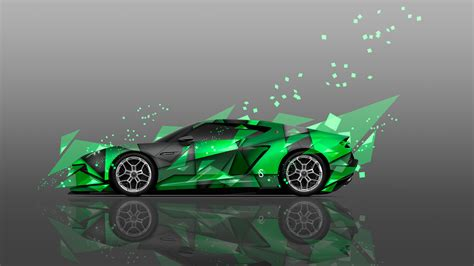lamborghini asterion side abstract aerography car