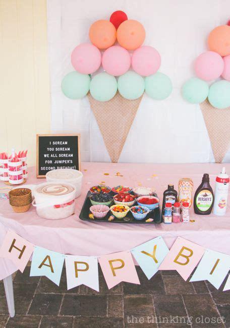 ice cream themed birthday party diy decor ideas rheece
