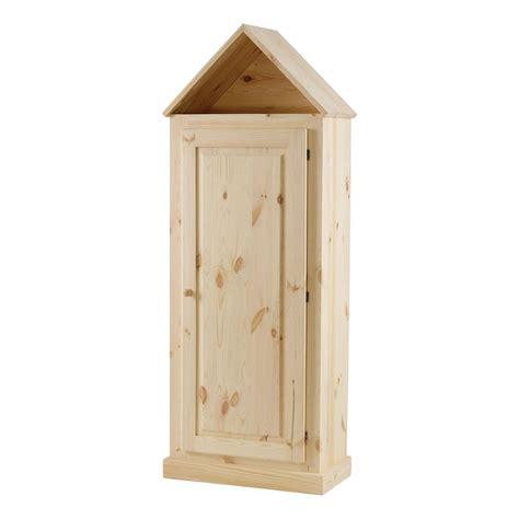 armoire maison pin massif brut 1 porte mooviin
