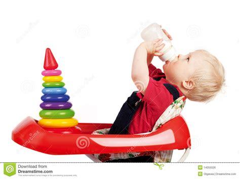 Infant Drinking Milk Royalty Free Stock Image Image