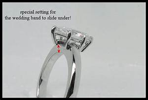 engagement rings wedding band under With engagement ring slides into wedding band