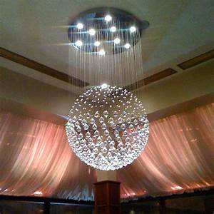 Modern sphere crystal chandelier ceiling light round