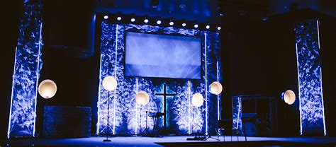 rough  clear church stage design ideas