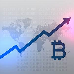 Stock Growth Chart Upward Growth Chart For Bitcoin Currency Vector Design
