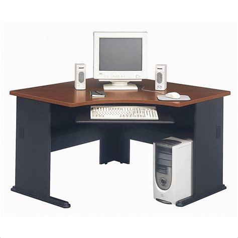 wood corner computer desk bush furniture series a corner wood hansen cherry computer