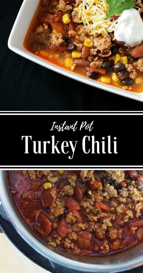 You can add corn, beans, or peas and you could top with cheese, says recipe creator tammy doerr. Instant Pot Turkey Chili is the ultimate comfort food - and big batch and freezer friendl ...