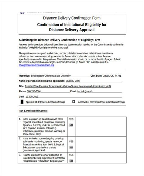 delivery confirmation form   documents  word